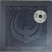 "Magnum Days Of No Trust - White Vinyl UK 12"" vinyl"