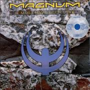 "Magnum It Must Have Been Love - Blue Vinyl UK 12"" vinyl"