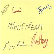 Click here for more info about 'Mainstream - Dressing Room Sign - Autographed'