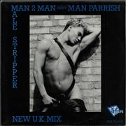 Click here for more info about 'Man 2 Man - Male Stripper - Blue Text Sleeve'