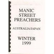 Manic Street Preachers Australia/Japan - Winter 1999 UK Itinerary