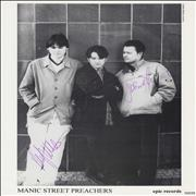Click here for more info about 'Manic Street Preachers - Publicity Photograph - Autographed'