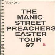 Manic Street Preachers Easter Tour - 1997 Tour Itinerary UK Itinerary