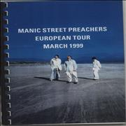 Click here for more info about 'Manic Street Preachers - European Tour - March 1999'