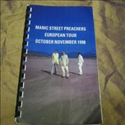 Click here for more info about 'Manic Street Preachers - European Tour - October/November 1998'