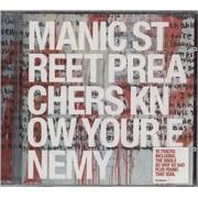 Manic Street Preachers Know Your Enemy UK CD album