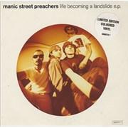 "Manic Street Preachers Life Becoming A Landslide - Pink Vinyl UK 7"" vinyl"