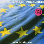 "Manic Street Preachers New Art Riot - Pink Vinyl - EX UK 12"" vinyl"