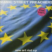 Click here for more info about 'Manic Street Preachers - New Art Riot - Pink Vinyl'