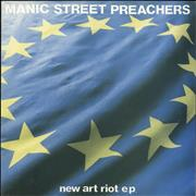 Click here for more info about 'Manic Street Preachers - New Art Riot EP - Black & Yellow Labels'