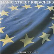 Click here for more info about 'Manic Street Preachers - New Art Riot E.P. - Green & Silver labels'