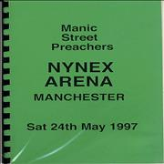 Click here for more info about 'Manic Street Preachers - Nynex Arena - Tour Itinerary'
