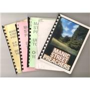 Manic Street Preachers Quantity of Five 1996 Tour Itineraries UK Itinerary