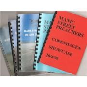 Manic Street Preachers Quantity of Five 1998 Tour Itineraries UK Itinerary