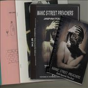Manic Street Preachers Quantity of Four 1993 Tour Itineraries UK Itinerary