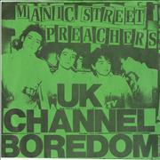 "Manic Street Preachers UK Channel Boredom + Fanzine UK 7"" vinyl"