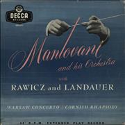 Click here for more info about 'Mantovani - Warsaw Concerto / Cornish Rhapsody'