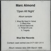 Click here for more info about 'Marc Almond - Open All Night - Album Sampler'