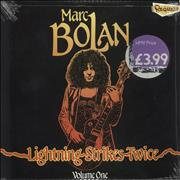 Click here for more info about 'Marc Bolan - Lightning Strikes Twice Volume One - Red Vinyl - Sealed'