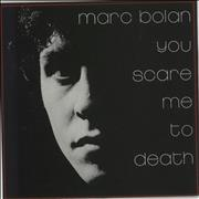 Click here for more info about 'Marc Bolan - You Scare Me To Death + Flexi & Press Sheet'