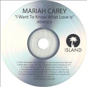 Click here for more info about 'Mariah Carey - I Want To Know What Love Is - Remixes'