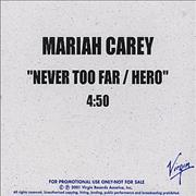 Click here for more info about 'Mariah Carey - Never Too Far / Hero'
