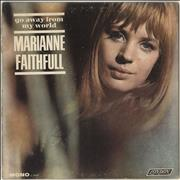 Click here for more info about 'Marianne Faithfull - Go Away From My World - Mono - VG'