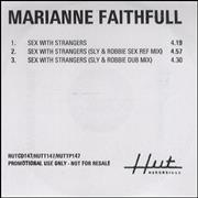 Click here for more info about 'Marianne Faithfull - Sex With Strangers'