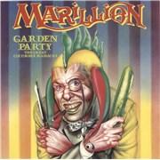 """Marillion Garden Party - 4-prong + P/S UK 7"""" vinyl"""