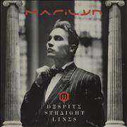 Click here for more info about 'Marilyn - Despite Straight Lines - gold promo stamp'