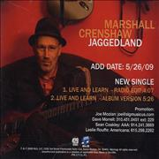 Click here for more info about 'Marshall Crenshaw - Live And Learn'