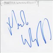 Click here for more info about 'Martha Wainwright - Autograph'