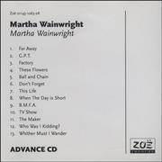 Click here for more info about 'Martha Wainwright - Martha Wainwright'