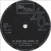 Click here for more info about 'Marv Johnson - So Glad You Chose Me'