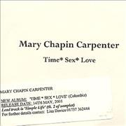 Click here for more info about 'Mary Chapin Carpenter - Time*Sex*Love'