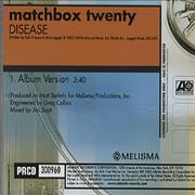 Click here for more info about 'Matchbox 20 - Disease'