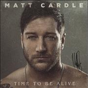 Click here for more info about 'Matt Cardle - Time To Be Alive - Autographed'