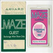 Click here for more info about 'Maze - European Tour 1987'