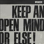 Click here for more info about 'McCarthy - Keep An Open Mind Or Else!'