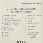 Click here for more info about 'Me'Shell Ndegeocello - Plantation Lullabies'