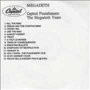 Click here for more info about 'Megadeth - Capitol Punishment - The Megadeth Years'