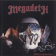 Megadeth Killing Is My Business... EX UK vinyl LP