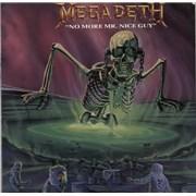 """Megadeth No More Mr Nice Guy - Poster Slv - EX UK 12"""" vinyl"""