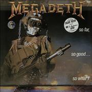 Click here for more info about 'Megadeth - So Far, So Good... So What! + Poster - EX'