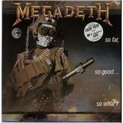 Megadeth So Far, So Good... So What! + Poster UK vinyl LP