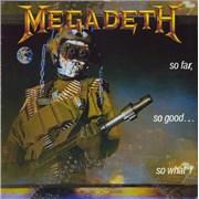 Megadeth So Far, So Good... So What! UK vinyl LP