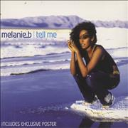 Melanie B Tell Me - digipak & poster UK CD single