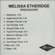 Click here for more info about 'Melissa Etheridge - Breakdown'