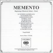 Click here for more info about 'Memento - Beginnings'