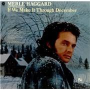 Merle Haggard If We Make It Through December USA vinyl LP
